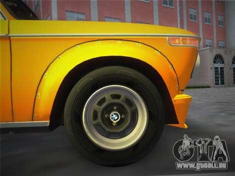 BMW 2002 Tii (E10) 1973 pour GTA Vice City vue arrière