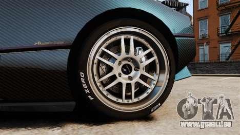 Pagani Zonda C12S Roadster 2001 v1.1 PJ3 für GTA 4 Rückansicht