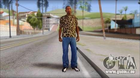 Tiger Skin T-Shirt Mod pour GTA San Andreas troisième écran