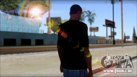 WWE Nexus T-Shirt für GTA San Andreas zweiten Screenshot