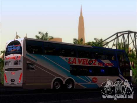 Metalsur Starbus DP 1 6x2 - La Veloz del Norte pour GTA San Andreas vue intérieure