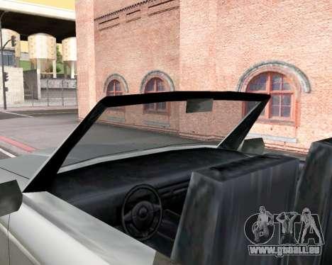 L'Amiral Convertible pour GTA San Andreas vue arrière