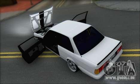 BMW M3 E30 pour GTA San Andreas vue de dessous