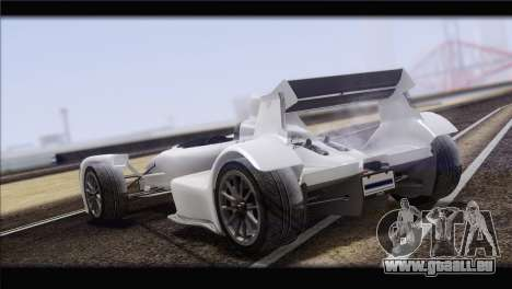 Caparo T1 2012 für GTA San Andreas Rückansicht
