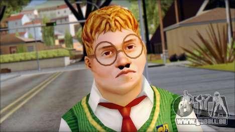 Algernon from Bully Scholarship Edition pour GTA San Andreas troisième écran