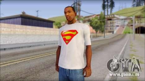 Superman T-Shirt pour GTA San Andreas