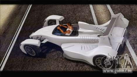 Caparo T1 2012 pour GTA San Andreas laissé vue