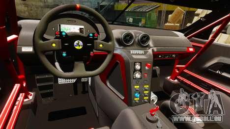 Ferrari F599 XX Evoluzione Simple CarbonFiber pour GTA 4 est une vue de l'intérieur