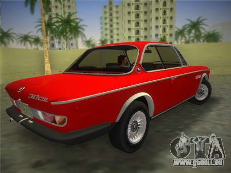 BMW 3.0 CSL 1971 pour une vue GTA Vice City de la gauche