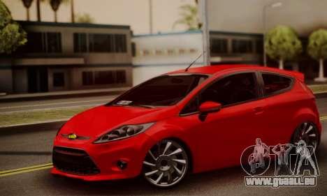Ford Fiesta Turkey Drift Edition für GTA San Andreas zurück linke Ansicht