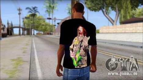 Max Cavalera T-Shirt v1 pour GTA San Andreas deuxième écran