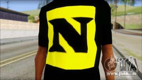 WWE Nexus T-Shirt pour GTA San Andreas troisième écran
