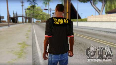 Sum 41 T-Shirt für GTA San Andreas zweiten Screenshot