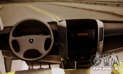 Mercedes-Benz Sprinter 315 CDi für GTA San Andreas Rückansicht