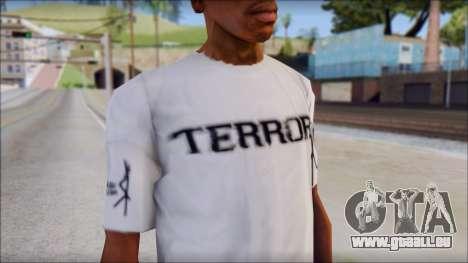 Terror T-Shirt Hardcore pour GTA San Andreas troisième écran