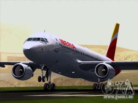 Airbus A320-214 Iberia für GTA San Andreas Innenansicht