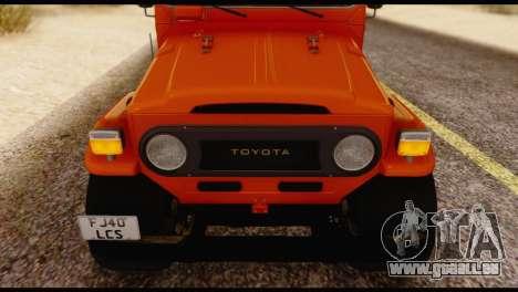 Toyota Land Cruiser (FJ40) 1978 pour GTA San Andreas vue arrière