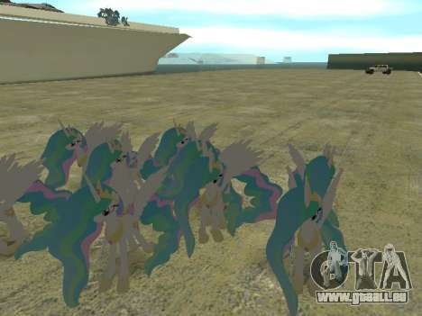 Princess Celestia pour GTA San Andreas cinquième écran