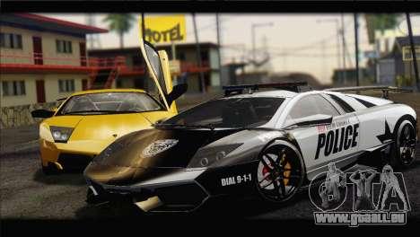 Lamborghini Murcielago LP670 SV Police für GTA San Andreas