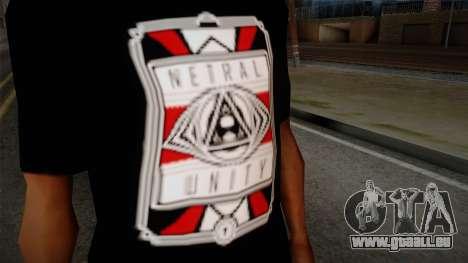 Netral T-Shirt pour GTA San Andreas troisième écran