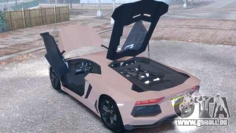 Lamborghini Aventador LP700-4 für GTA 4 Rückansicht