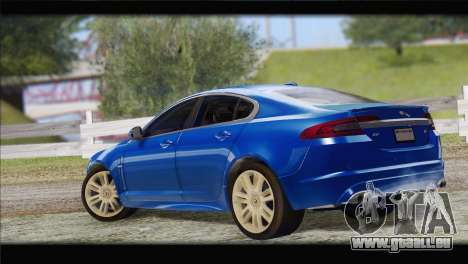 Jaguar XFR v1.0 2011 pour GTA San Andreas laissé vue