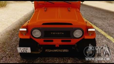 Toyota Land Cruiser (FJ40) 1978 pour GTA San Andreas vue intérieure