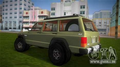 Jeep Cherokee v1.0 BETA pour une vue GTA Vice City de la gauche