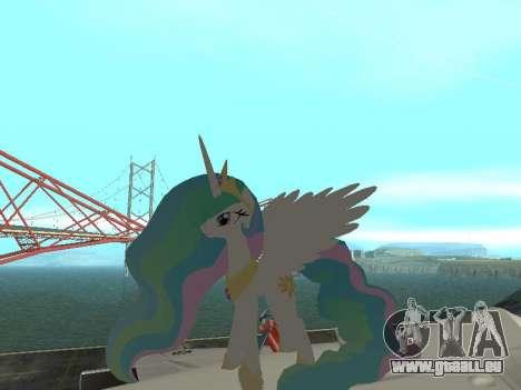 Princess Celestia pour GTA San Andreas deuxième écran