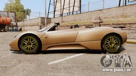 Pagani Zonda C12S Roadster 2001 v1.1 für GTA 4 linke Ansicht