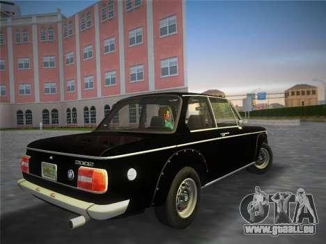 BMW 2002 Tii (E10) 1973 pour une vue GTA Vice City de la gauche