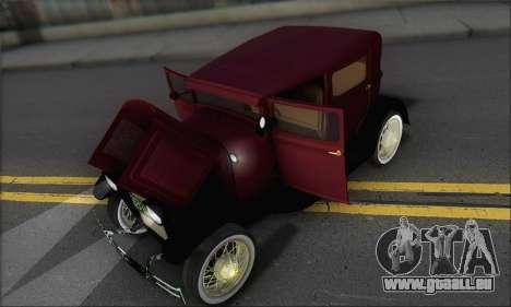 Ford A 1930 pour GTA San Andreas vue de côté