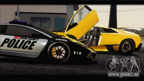 Lamborghini Murcielago LP670 SV Police für GTA San Andreas linke Ansicht