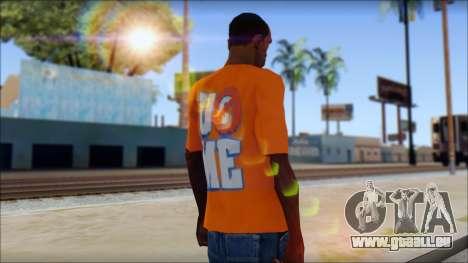 John Cena Orange T-Shirt für GTA San Andreas zweiten Screenshot