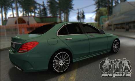 Mercedes-Benz C250 V1.0 2014 für GTA San Andreas Rückansicht