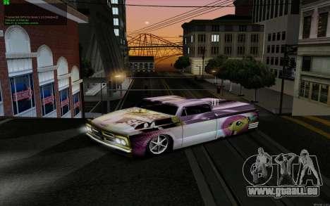 Travaux de peinture pour Slamvan MLP Fluttershy pour GTA San Andreas sur la vue arrière gauche