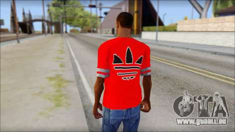 T-Shirt Adidas Red für GTA San Andreas zweiten Screenshot