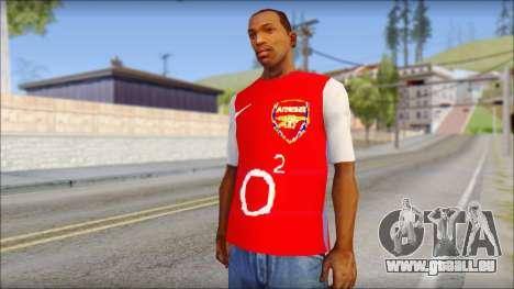 Arsenal Shirt pour GTA San Andreas