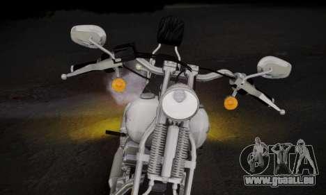 Harley-Davidson FXSTS Springer Softail pour GTA San Andreas sur la vue arrière gauche