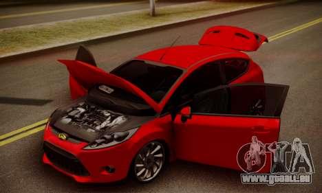 Ford Fiesta Turkey Drift Edition für GTA San Andreas Rückansicht
