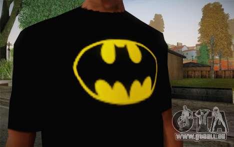 Batman Swag Shirt pour GTA San Andreas troisième écran