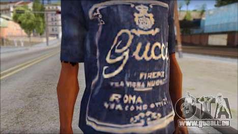 Gucci T-Shirt pour GTA San Andreas troisième écran