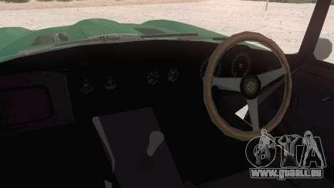 Jaguar E-Type pour GTA San Andreas sur la vue arrière gauche
