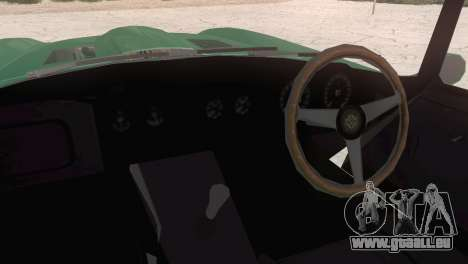 Jaguar E-Type für GTA San Andreas zurück linke Ansicht