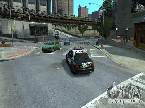 Ford Crown Victoria Police NYPD 2014 für GTA 4 hinten links Ansicht