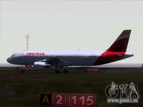 Airbus A320-214 Iberia pour GTA San Andreas vue arrière