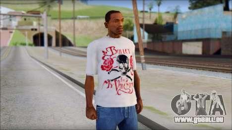 Bullet For My Valentine White Fan T-Shirt für GTA San Andreas
