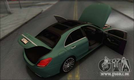 Mercedes-Benz C250 V1.0 2014 pour GTA San Andreas moteur