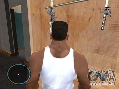 L'étui d'arme pour GTA San Andreas troisième écran