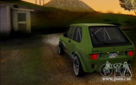 Volkswagen Golf Mk I pour GTA San Andreas sur la vue arrière gauche
